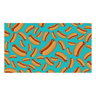 Turquoise hotdogs business card templates