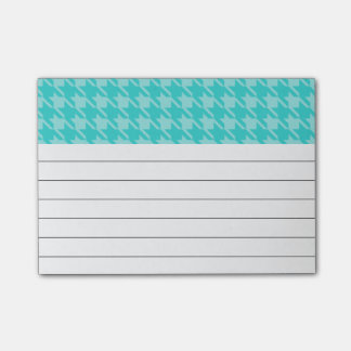 Turquoise Houndstooth Post It Notes
