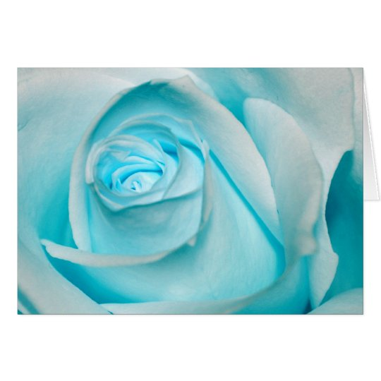 Turquoise Ice Rose Card