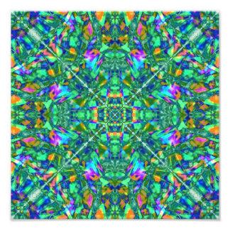 Turquoise Kaleidoscope Fractal Art Photo