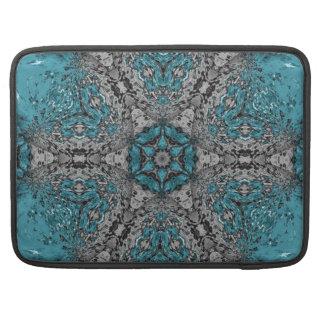 Turquoise Kaleidoscope Rain MacBook Pro Sleeves