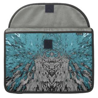 Turquoise Kaleidoscope Rain Sleeve For MacBooks