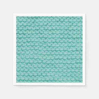 Turquoise Knit Napkins Disposable Napkins
