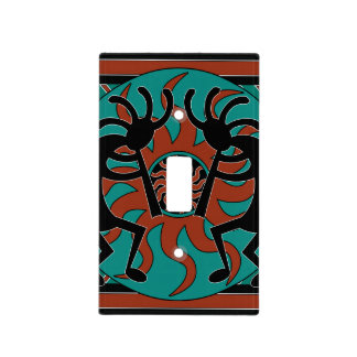 Turquoise Kokopelli Southwest Design Light Switch Cover