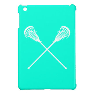 Turquoise Lacrosse Sticks iPad Mini Case