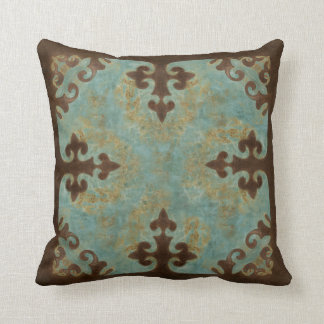Turquoise leather boots pillow