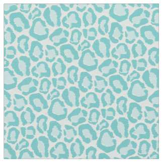 Turquoise Leopard Animal Print Fabric