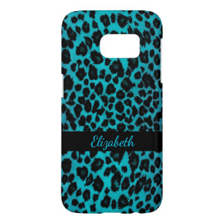 Turquoise Leopard Animal Print Galaxy S7 Case