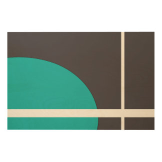 Turquoise Line Wood Wall Art