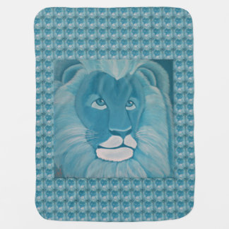 Turquoise Lion Baby Blanket