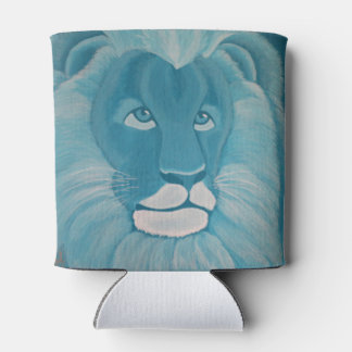 Turquoise Lion Can Cooler