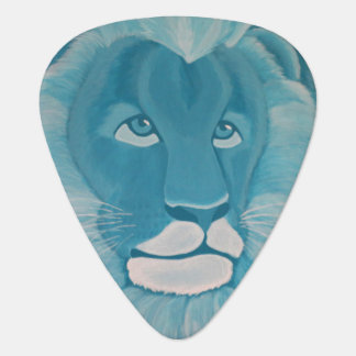 Turquoise Lion Guitar Pick