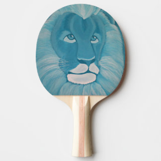 Turquoise Lion Ping Pong Paddle