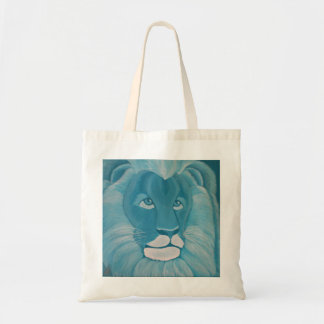 Turquoise Lion Tote