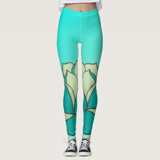 Turquoise Lotus Leggings