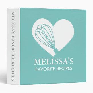 Turquoise Love Baking Recipe Binder