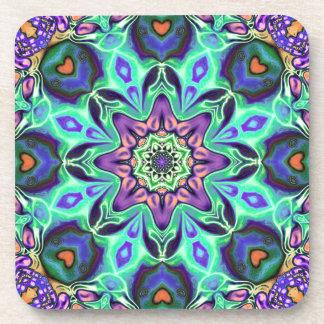 Turquoise Mandala Abstract Coasters