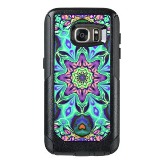 Turquoise Mandala Abstract OtterBox Samsung Galaxy S7 Case