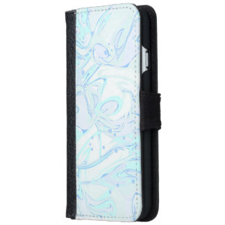 Turquoise marble texture for trendy girls iPhone 6 wallet case
