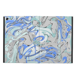 Turquoise marble texture iPad air cases