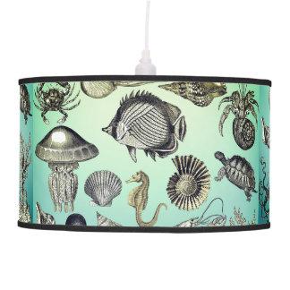 Turquoise Marine Life Pendant Lamp