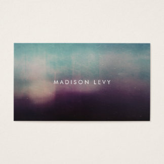 Turquoise & Mauve Minimalist Appointment Cards