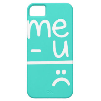 Turquoise Me Minus You Equals Sad Face Doodle iPhone 5 Case