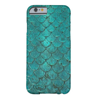 Turquoise mermaid scales pattern iPphone case