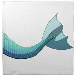 Turquoise Mermaid Tail V2 Napkin