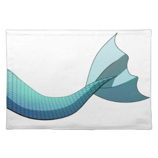 Turquoise Mermaid Tail V2 Placemat