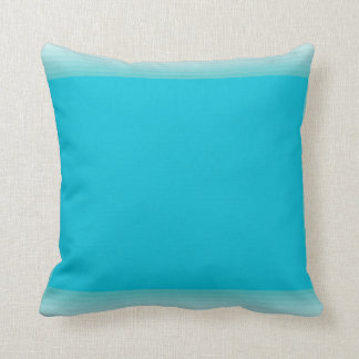 Turquoise Mid Century Modern Rectangles Blue Green Throw Pillow