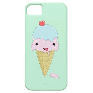 Turquoise mint green design with cartoon icecream iPhone 5 case