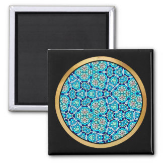Turquoise Mix & Match Collectables - 1 Square Magnet