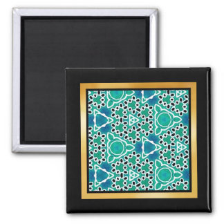 Turquoise Mix & Match Collectables - 5 Square Magnet