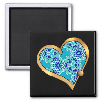 Turquoise Mix & Match Collectables - 7 Square Magnet