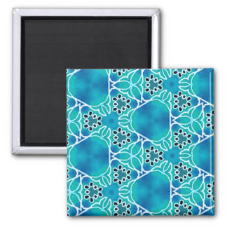 Turquoise Mix & Match Collectables - 8 Square Magnet