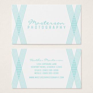 Turquoise Modern Deco Business Card
