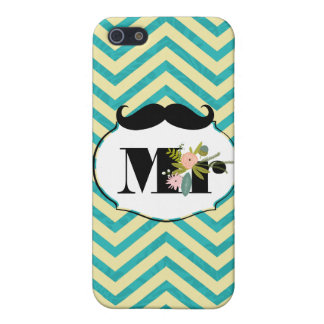 Turquoise moderne mariage damassé Chartreuse iPhone 5 Case