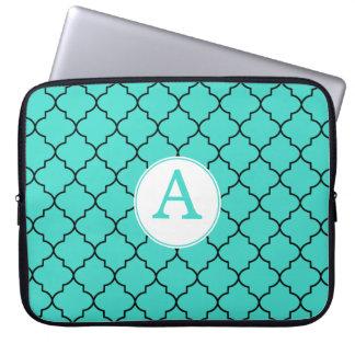 Turquoise Monogram Laptop Sleeve
