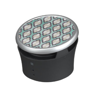 Turquoise Moroccan Pattern Bluetooth Speaker