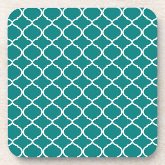 Turquoise Moroccan Pattern Coaster
