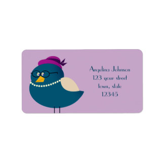 Turquoise Mrs Bird Cartoon Glasses Cute Funny