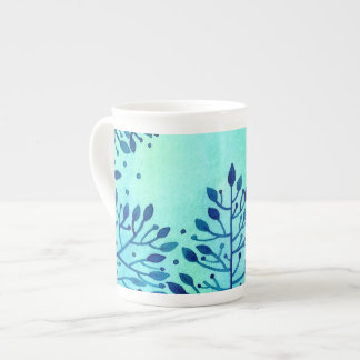 turquoise mug with a pattern
