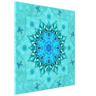 Turquoise Nature Mandala Canvas Print