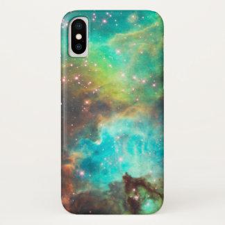 TURQUOISE NEBULA iPhone X CASE
