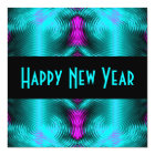 turquoise new year card