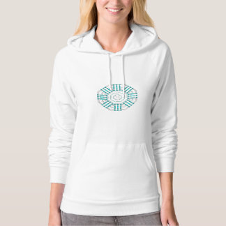 Turquoise Nexus Women's Fleece Pullover Hoodie
