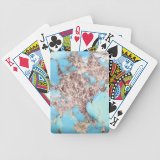 Turquoise Nugget Bicycle Playing Cards