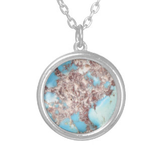 Turquoise Nugget Silver Plated Necklace