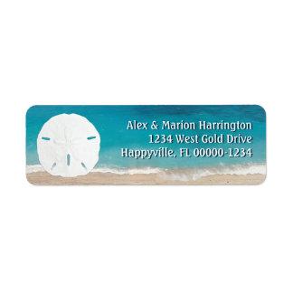 Turquoise Ocean Sand Dollar Return Address